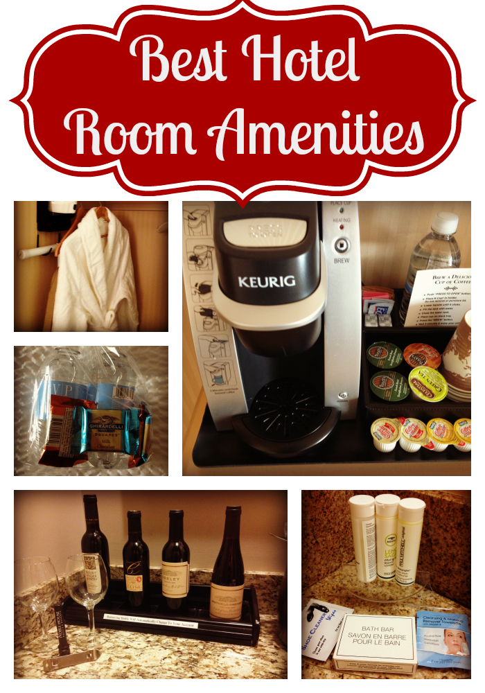 Best hotel amenities, good amenities, hotels, coffee, robes, bottled water