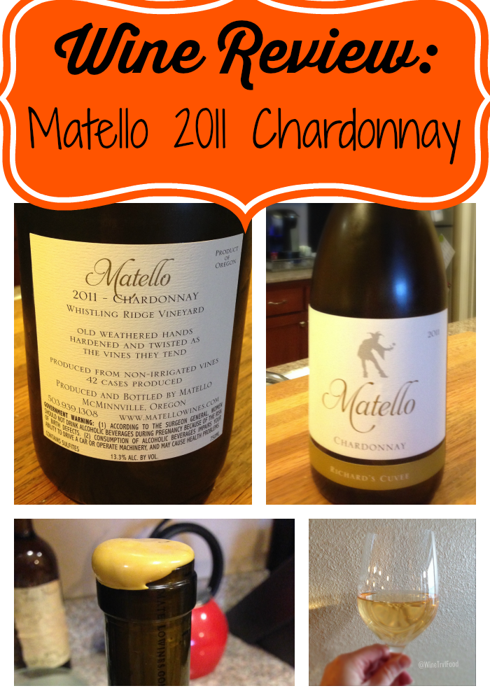 Wine Review: Matello Chardonnay 2011 - WTF-Amy
